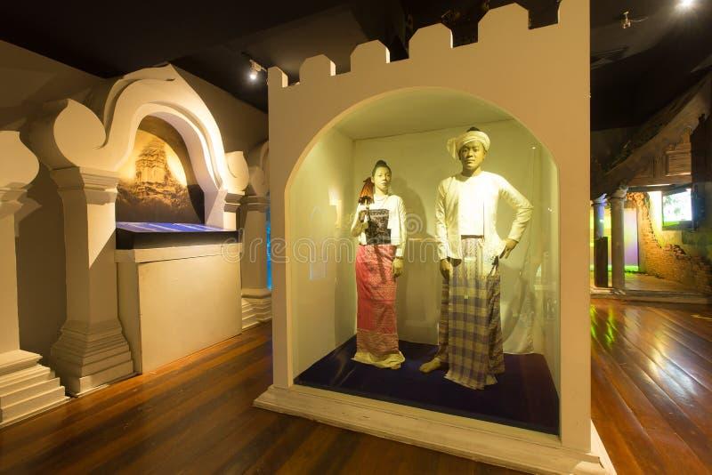 CHIANG MAI THAILAND - Maj 8, 2016: Chiang Maiâ €™s Lanna Heritage Centre, är ett splitterny stadsmuseum royaltyfri bild