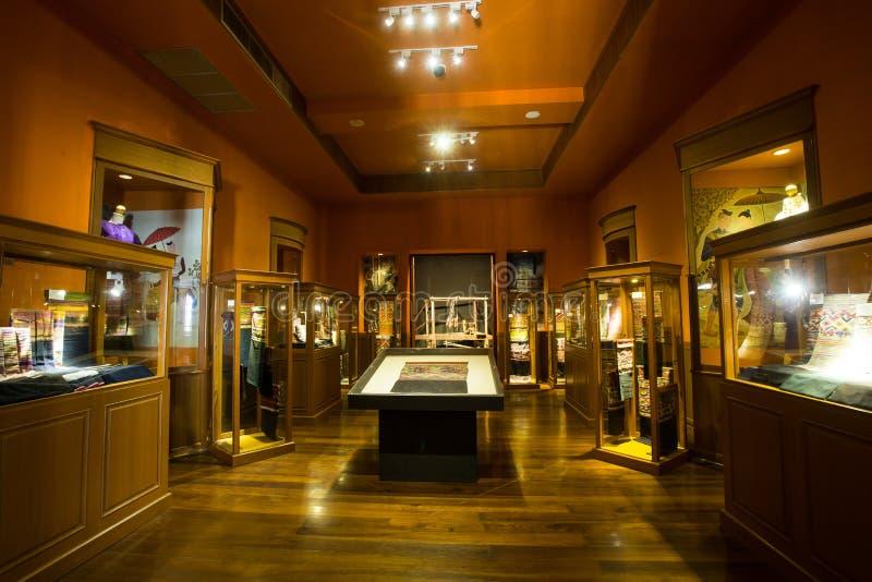 CHIANG MAI THAILAND - Maj 8, 2016: Chiang Maiâ €™s Lanna Heritage Centre, är ett splitterny stadsmuseum arkivfoton