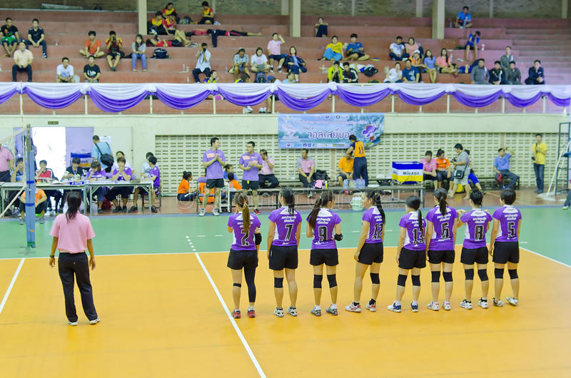 Chiang Mai, Thailand - MAY 5:The 33 rd University sport management personnel of the Commission on Higher Education. (CHE) ::AngKaew Games during May 1-8,2014 at royalty free stock photos