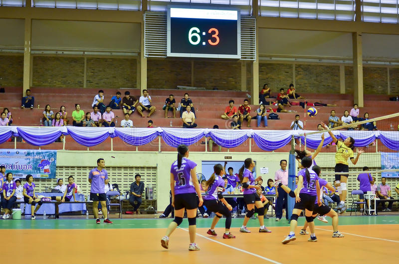 Chiang Mai, Thailand - MAY 5:The 33 rd University sport management personnel of the Commission on Higher Education. (CHE) ::AngKaew Games during May 1-8,2014 at stock image