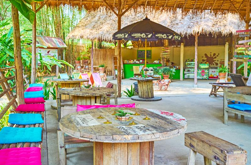 In cafe of Poopoopaper park, Chiang Mai, Thailand royalty free stock photos