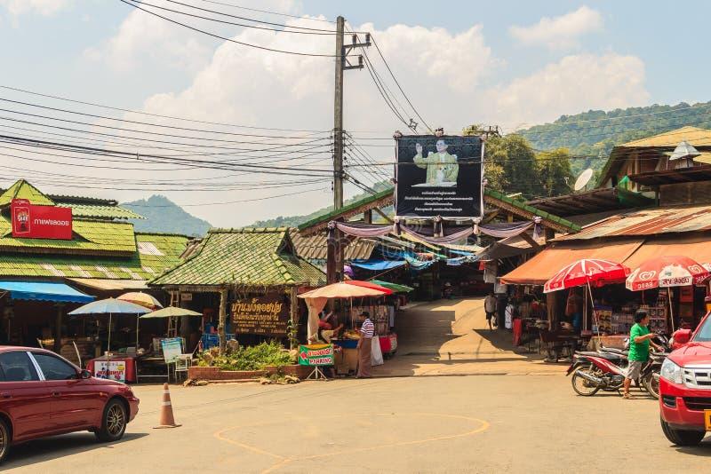 Chiang Mai, Thailand - Mei 3, 2017: Het stammendorp van Doipui hmong royalty-vrije stock fotografie
