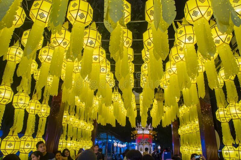 Chiang Mai Yee Peng festival stock photo
