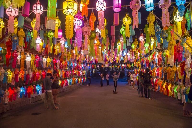 Chiang Mai Yee Peng festival royalty free stock photos