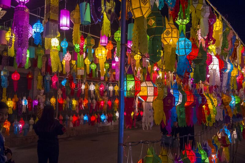 Chiang Mai Yee Peng festival royalty free stock images