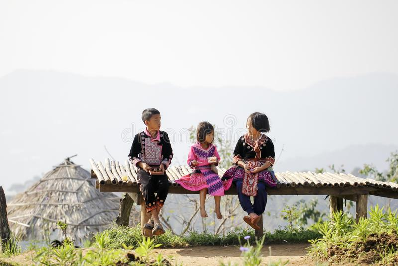 CHIANG MAI, THAILAND - 5. November: Porträt des nicht identifizierten Hügels Tri stockbild