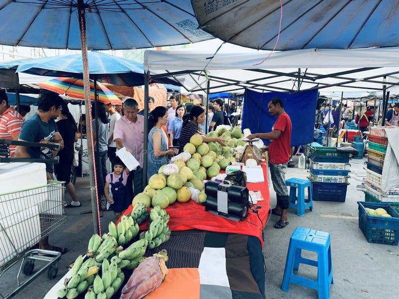 Thai flea marketin front of Big C mall, Chiang Mai branch stock photo