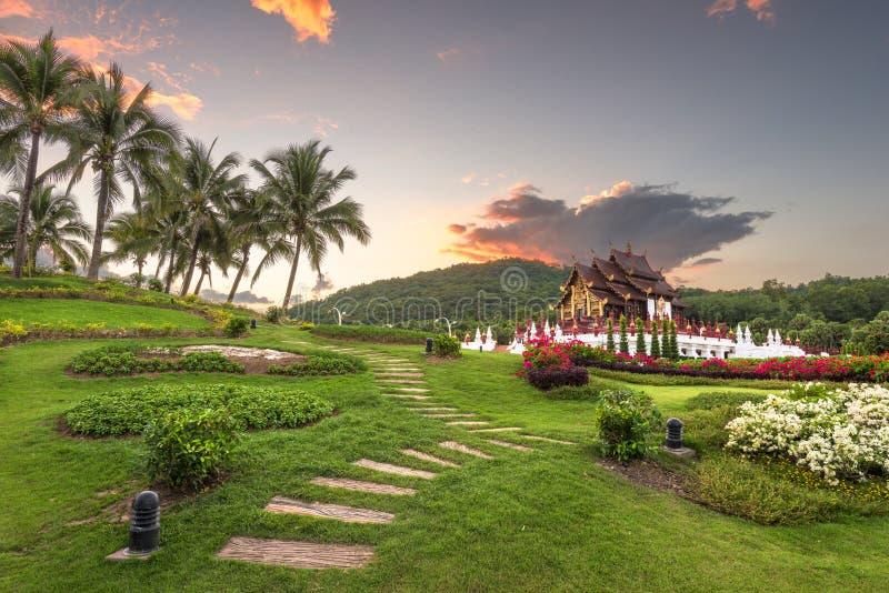 Chiang Mai Thailand på kungliga Flora Ratchaphruek Park royaltyfri fotografi