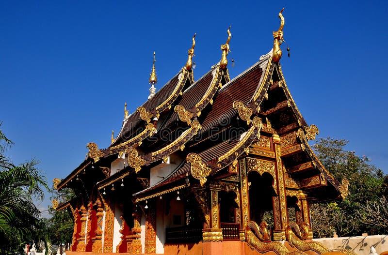 Chiang Mai, Thailand: Wat Chedi Liham Vihan Hall royalty free stock photos