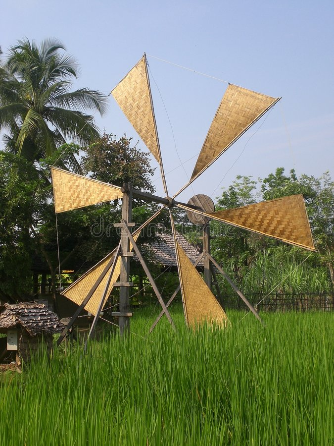 Chiang Mai windmill stock photography