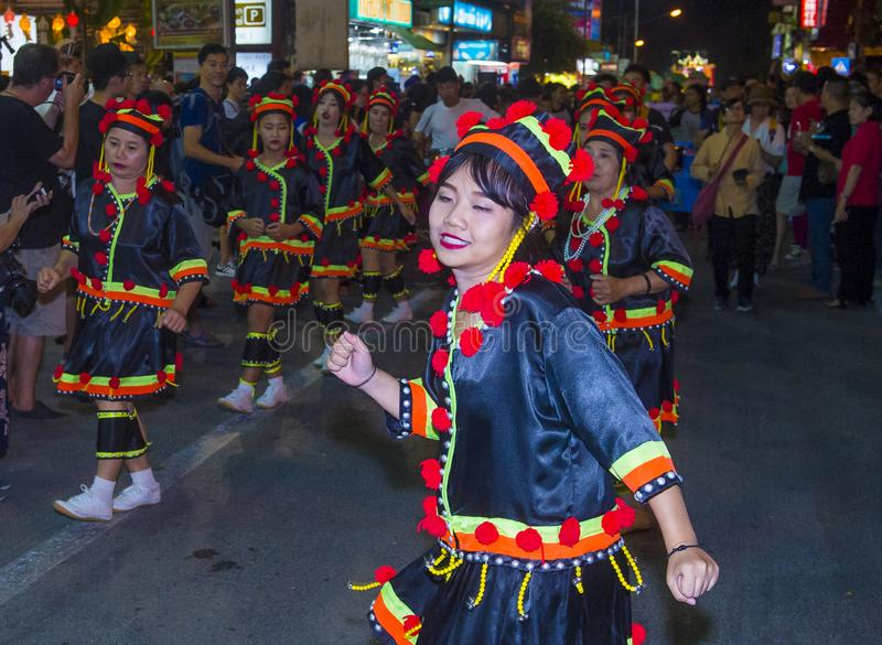 Chiang Mai Yee Peng festival arkivfoton