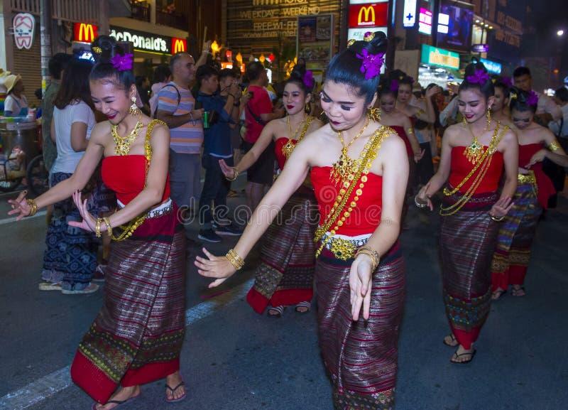 Chiang Mai Yee Peng festival royaltyfri fotografi