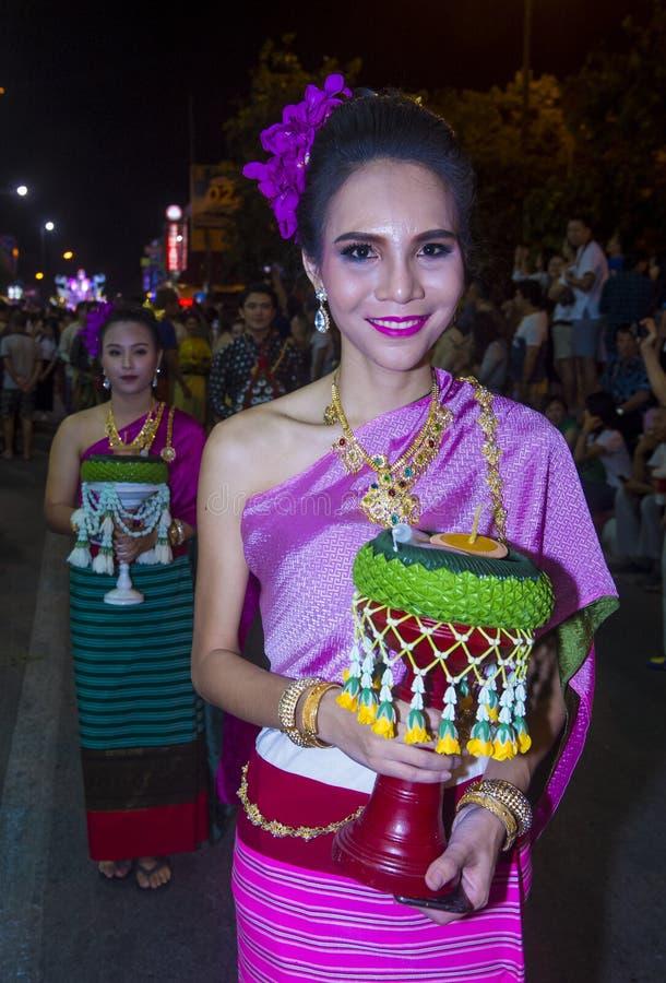 Chiang Mai Yee Peng festival royaltyfri foto