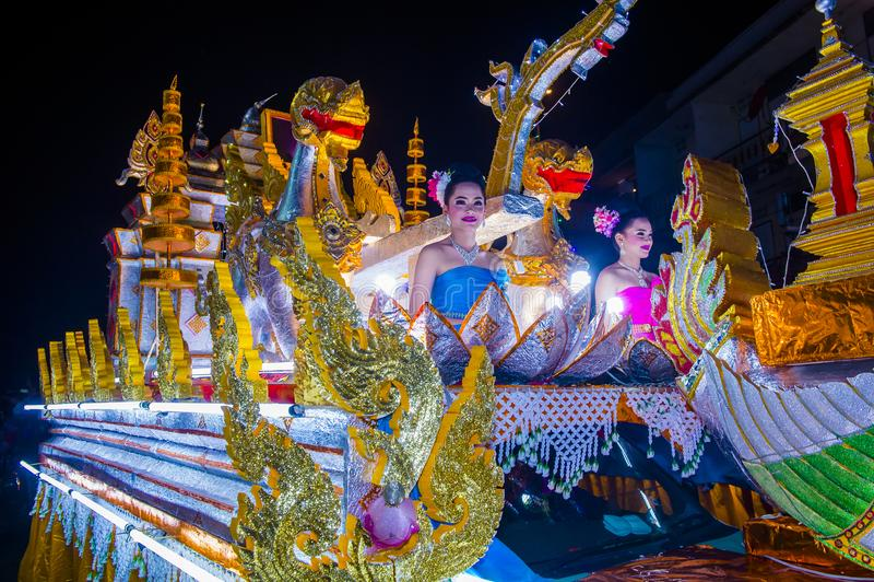 Chiang Mai Yee Peng festival arkivbild