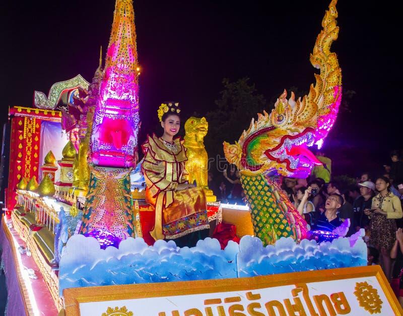 Chiang Mai Yee Peng festival royaltyfria bilder