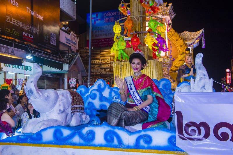 Chiang Mai Yee Peng festival royaltyfri bild