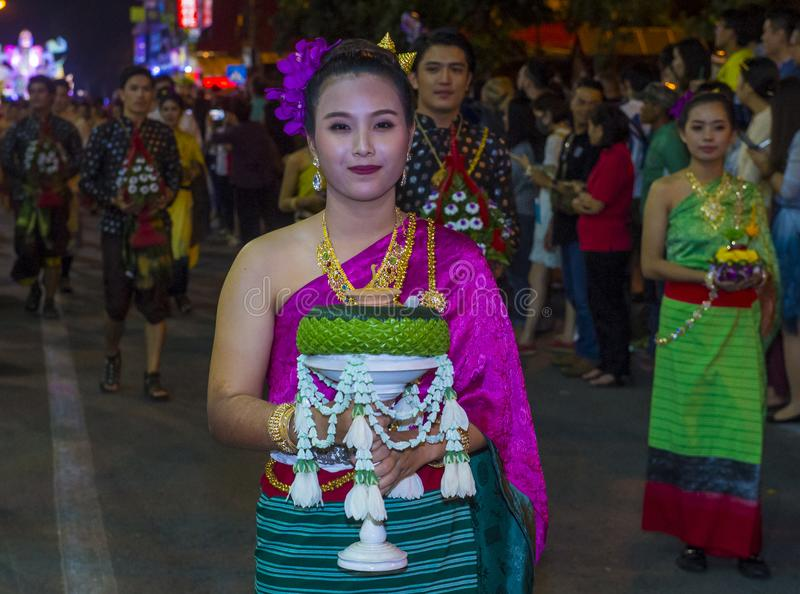 Chiang Mai Yee Peng festiwal fotografia royalty free