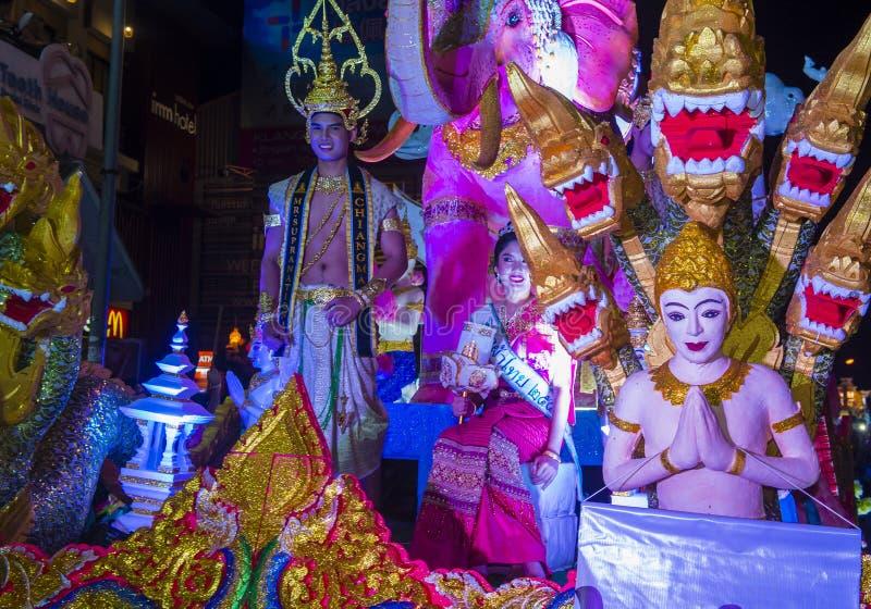 Chiang Mai Yee Peng festiwal obrazy stock