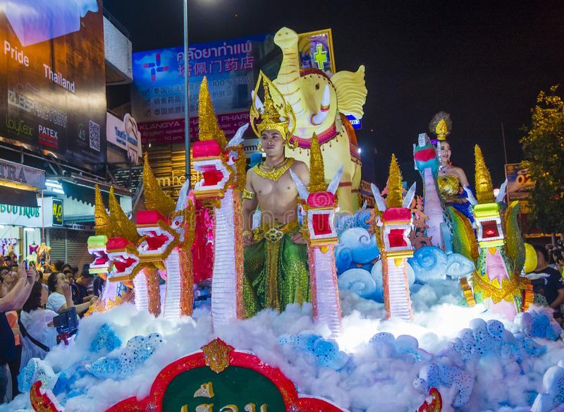 Chiang Mai Yee Peng festiwal zdjęcie royalty free