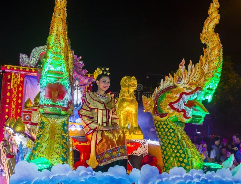 Chiang Mai Yee Peng festiwal obraz stock