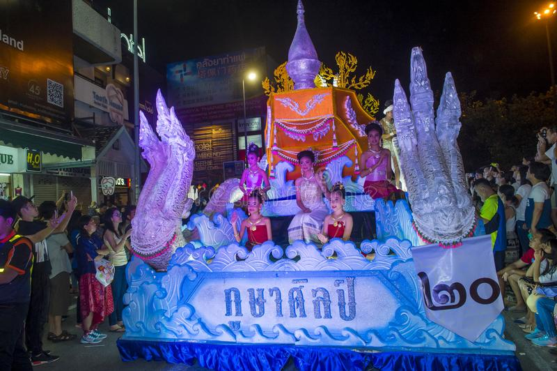 Chiang Mai Yee Peng festiwal obraz royalty free