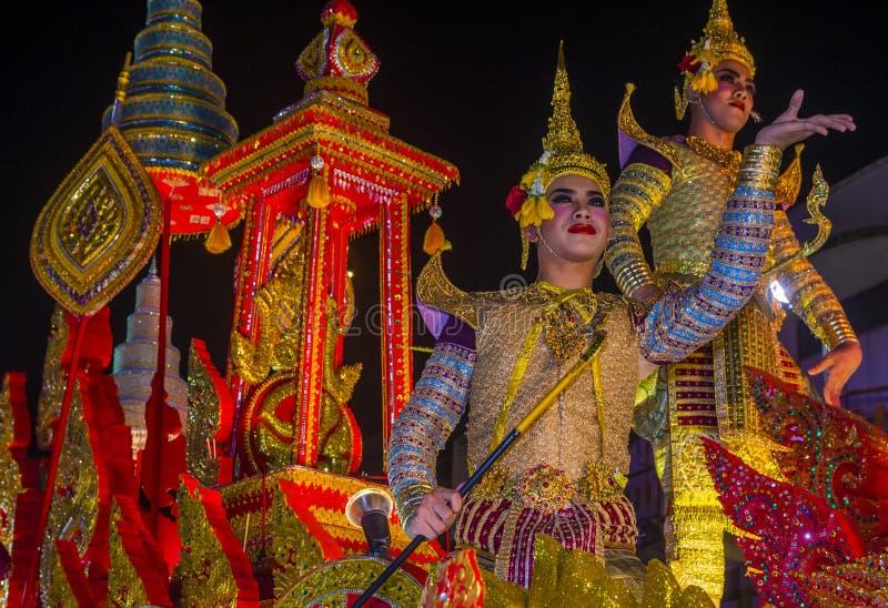 Chiang Mai Yee Peng festiwal zdjęcie stock