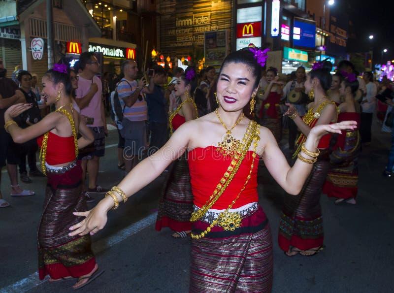 Chiang Mai Yee Peng festiwal zdjęcia stock