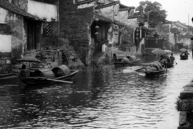 chiang porcelanowa kraju Nan thou miasteczka woda obrazy stock