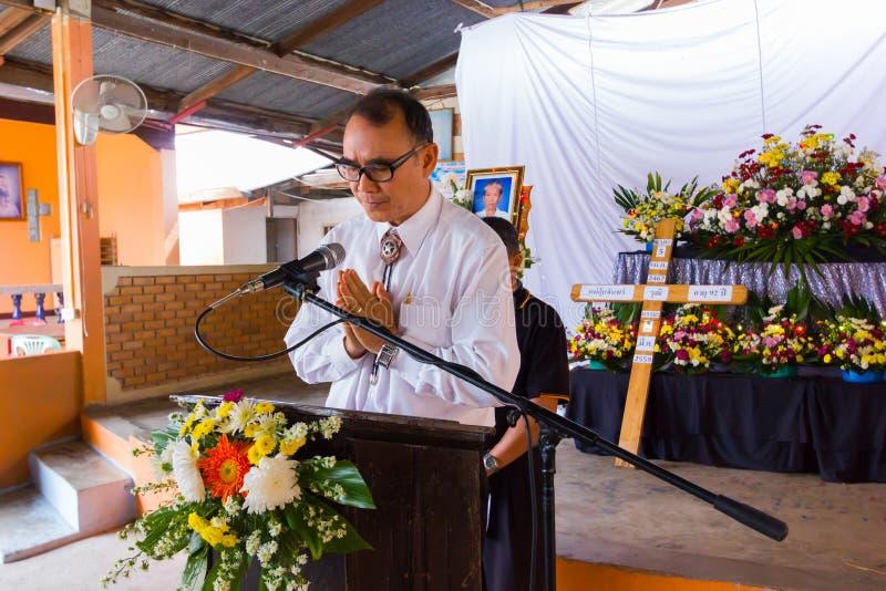 CHIANG RAI, ΤΑΪΛΆΝΔΗ - 2 ΜΑΡΤΊΟΥ: Μη αναγνωρισμένος πάστορας μιας εκκλησίας στοκ φωτογραφία
