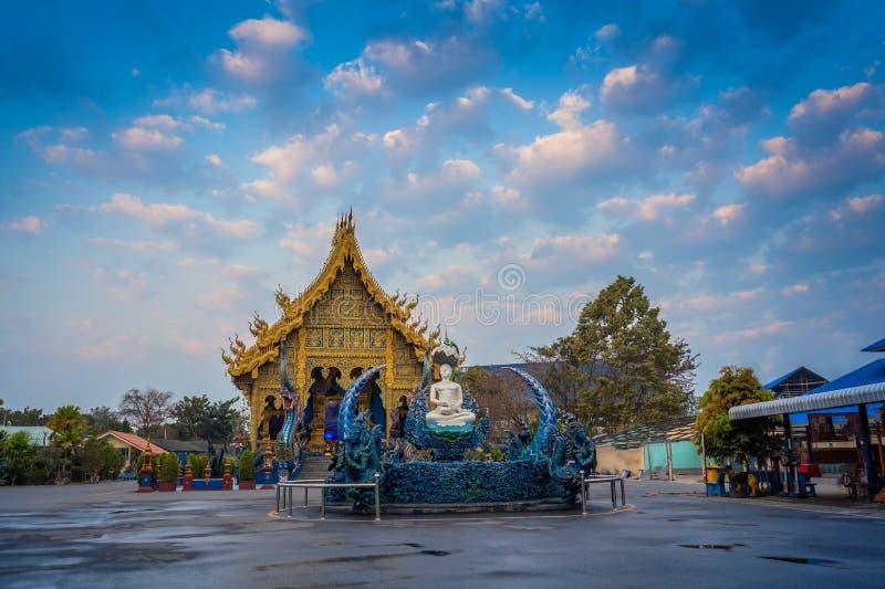 Chiang Rai Blue Temple of Wat Rong Seua Ten stock afbeeldingen