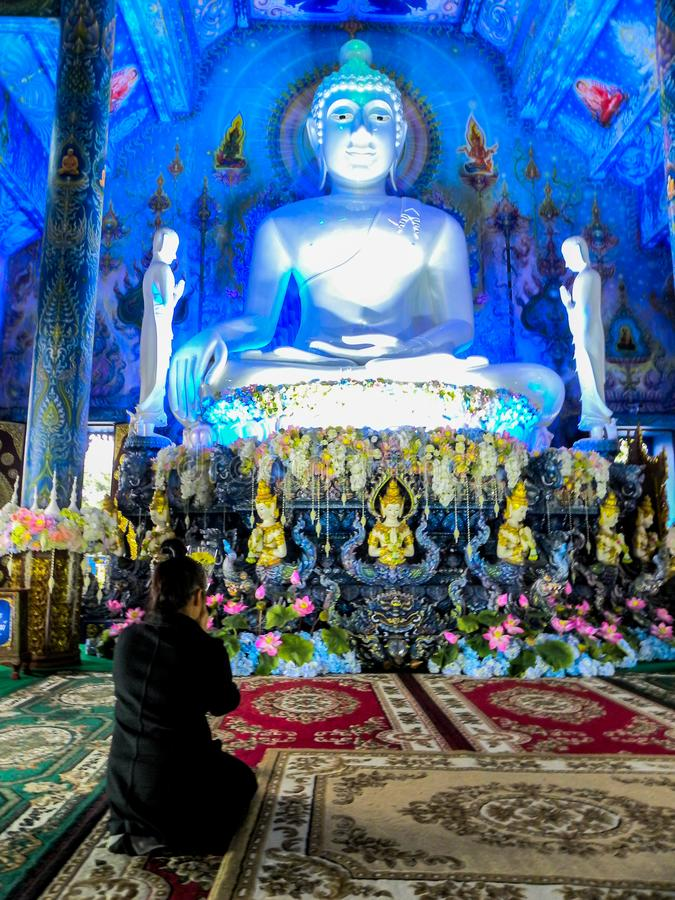 November 2018 - Chang Rai, Thailand - the Blue Temple. Chiang Rai Blue Temple or Wat Rong Seua Ten is located in Rong Suea Ten in the district of Rimkok a few stock photos