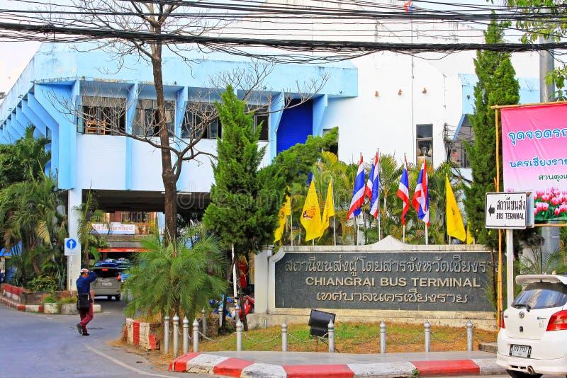 Chiang Rai Bus Terminal, Chiang Rai, Thailand stockfotos