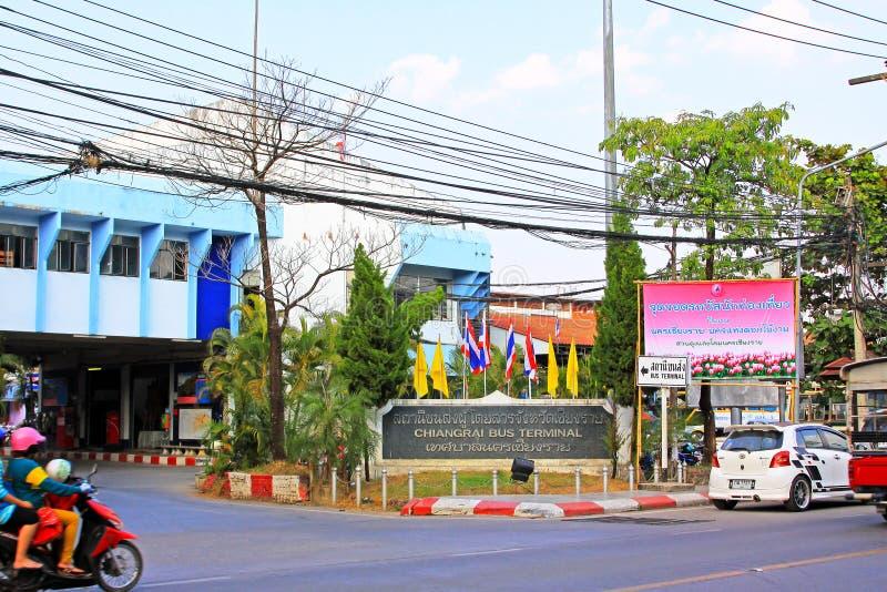 Chiang Rai Bus Terminal, Chiang Rai, Thailand stockbilder