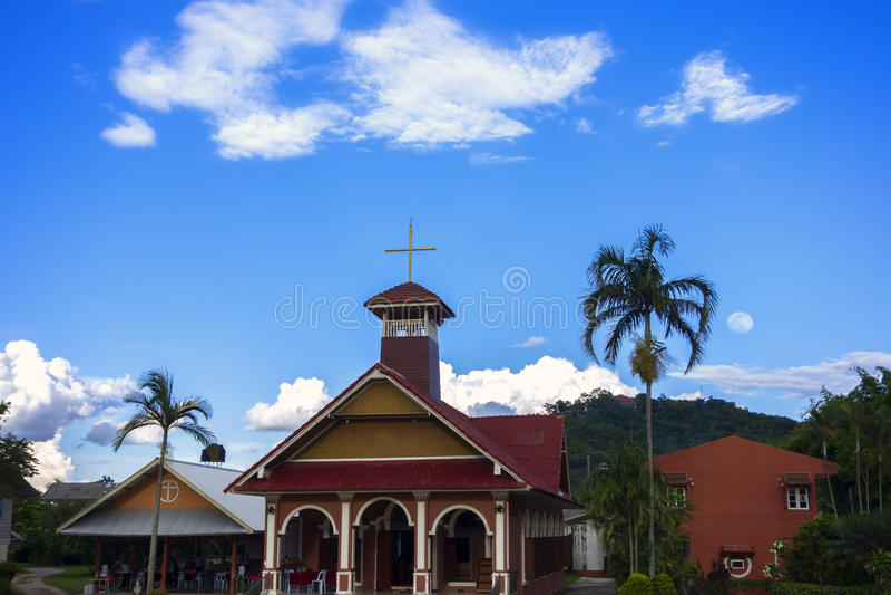 Chiang Rai Christian Church arkivbilder