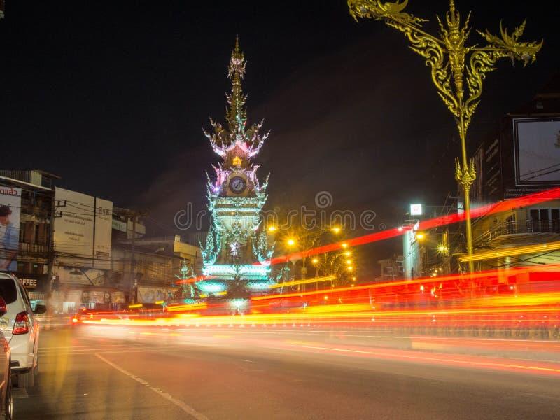 Chiang rai clock tower. stock photos
