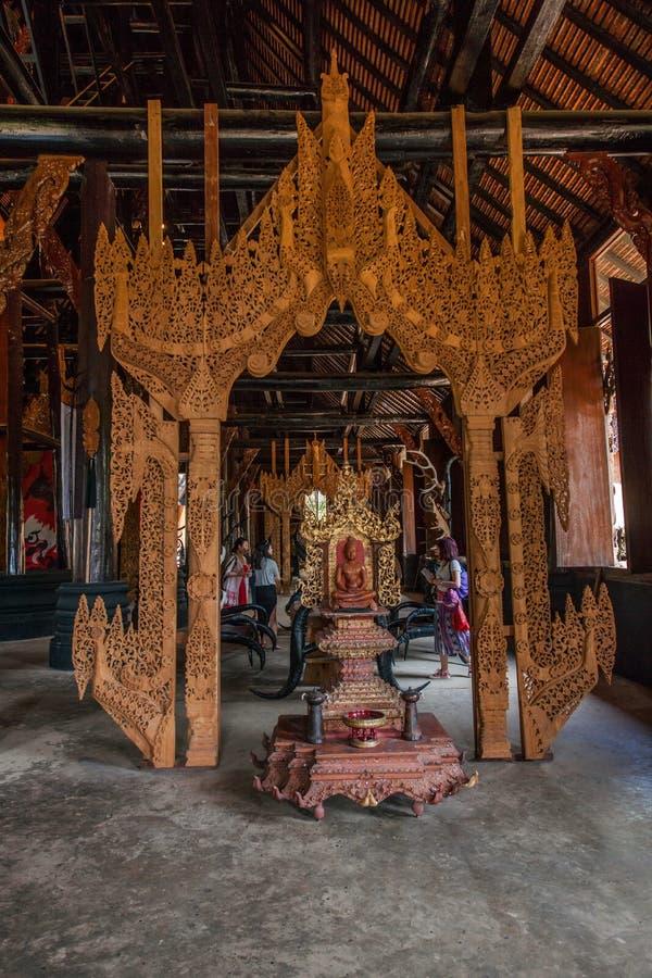 Chiang Rai en museo septentrional de la casa del negro de Tailandia imagenes de archivo