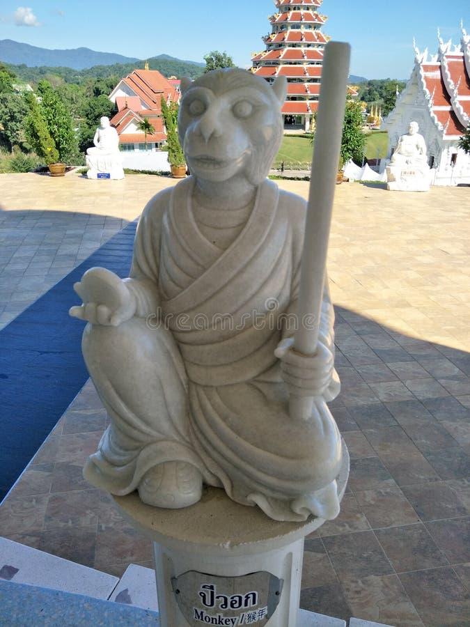 Chiang Rai Monkey Stones stockbild