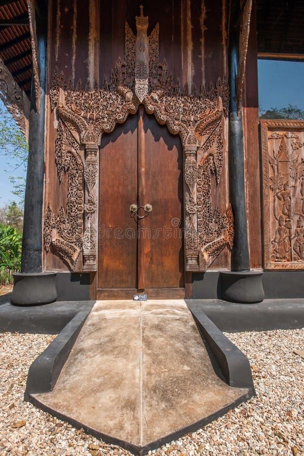 Chiang Rai no museu do norte da casa do preto de Tailândia fotografia de stock