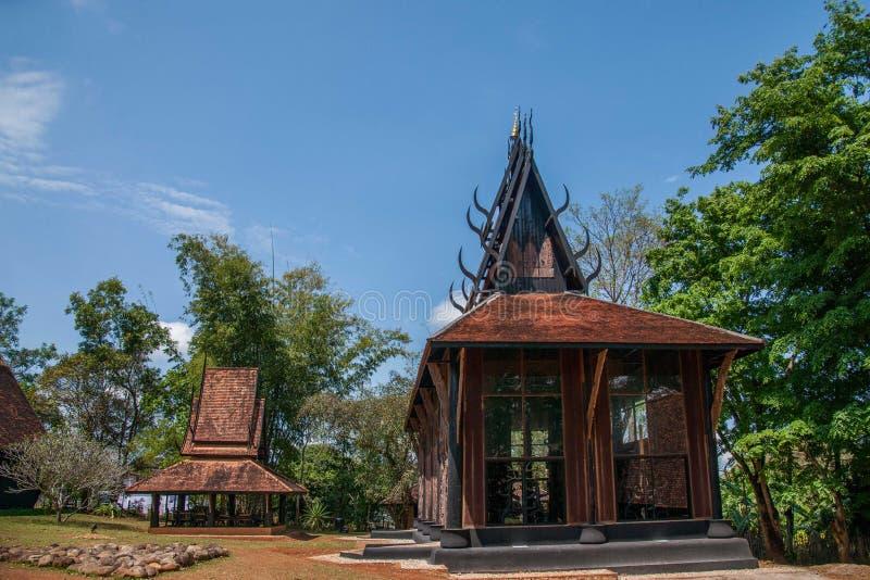 Chiang Rai in noordelijk Zwart het Huismuseum van Thailand stock fotografie
