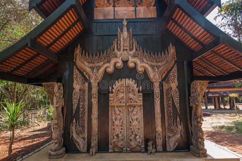 Chiang Rai in noordelijk Zwart het Huismuseum van Thailand stock afbeelding