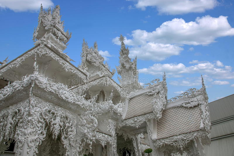 Chiang Rai in northern Thailand Baimiao called: Long Kun Temple, Linh Quang or White Dragon Temple (Wat Rong Khun) royalty free stock photo