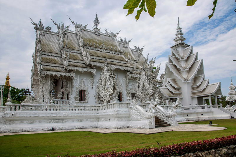 Chiang Rai in northern Thailand Baimiao called: Long Kun Temple, Linh Quang or White Dragon Temple (Wat Rong Khun) royalty free stock images
