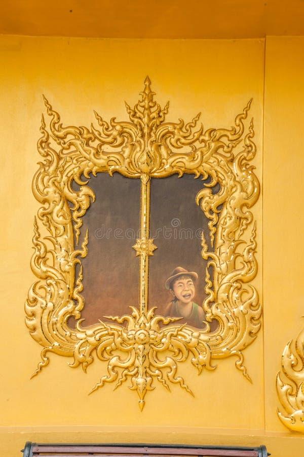 Chiang Rai in northern Thailand Baimiao called: Long Kun Temple, Linh Quang or White Dragon Temple (Wat Rong Khun) royalty free stock image