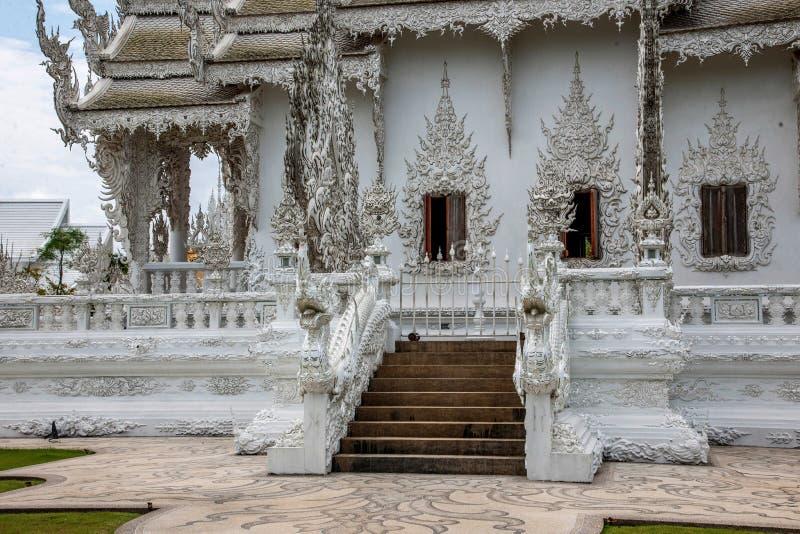 Chiang Rai in northern Thailand Baimiao called: Long Kun Temple, Linh Quang or White Dragon Temple (Wat Rong Khun) stock photos