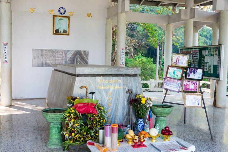 Chiang Rai, Tailândia - 27 de fevereiro de 2015: Túmulo do general Tuan um fam imagem de stock royalty free