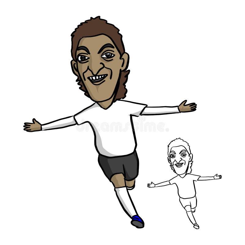 CHIANG RAI, TAILÂNDIA - 21 DE JUNHO: Footbal profissional de Mesut Ozil ilustração stock