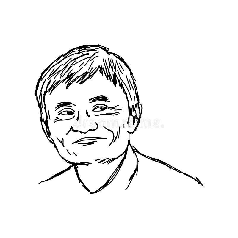 CHIANG RAI, TAILANDIA - 25 APRILE: ritratto disegnato a mano del fondatore royalty illustrazione gratis