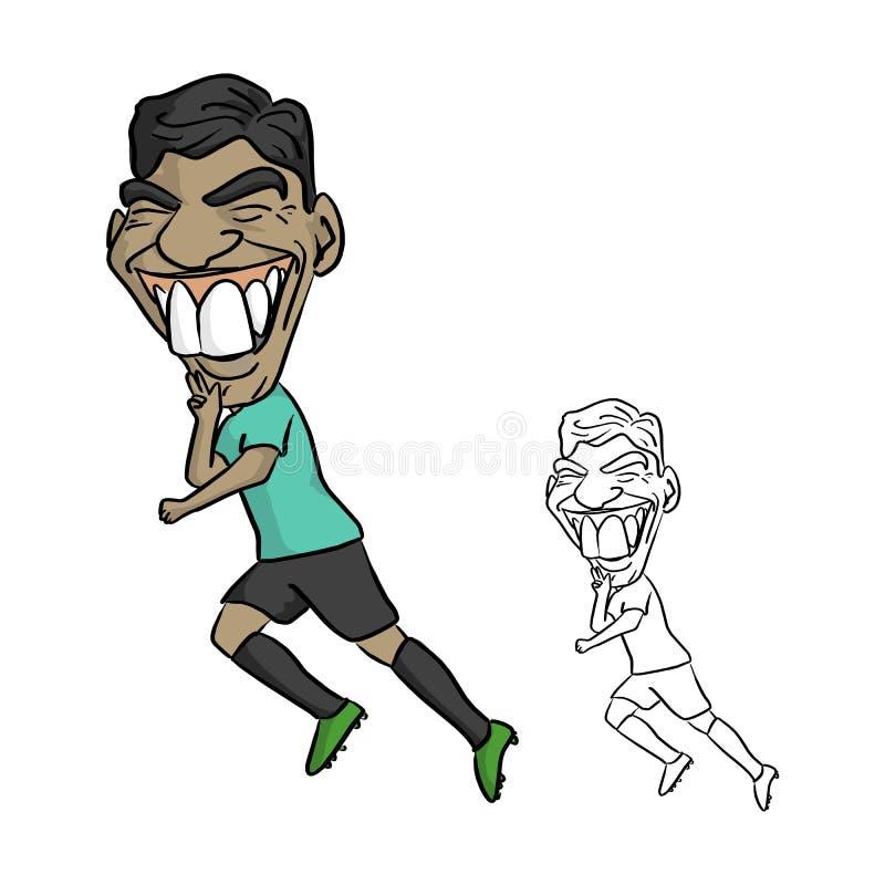 CHIANG RAI, THAÏLANDE - 21 JUIN : Footba de professionnel de Luis Suarez illustration libre de droits