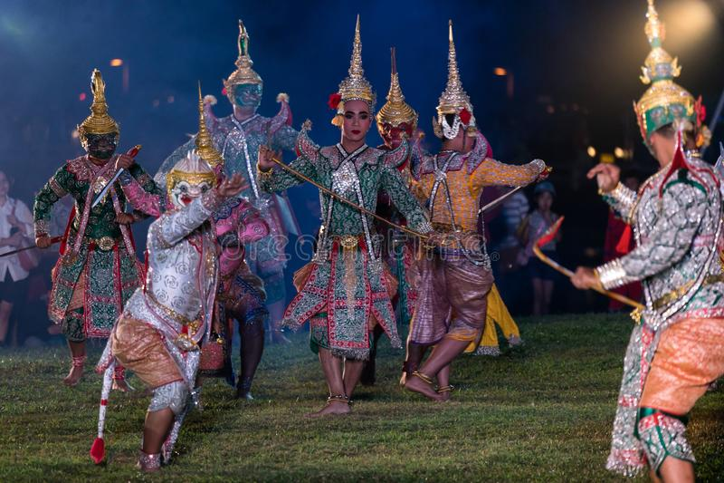 Download Khon Ramakien Or Ramayana Drama Dancing Editorial Photography - Image of literature, exoticism: 117113847