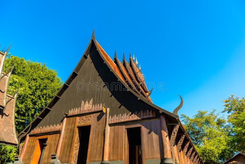 Chiang Rai, THAILAND - 23. November 2016: BAANDAM-Schwarzhaus lizenzfreie stockfotos